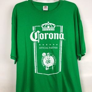Boston Celtics Corona beer unique green t